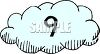 Cloud Number 9 clipart