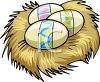 Nest with Easter Eggs In It clipart