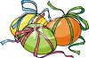 Easter Eggs Tied with Bows clipart