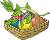Easter Eggs and an Olive Branch clipart