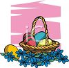 Easter Eggs and Forget-Me-Nots clipart
