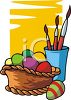 Painting Easter Eggs clipart