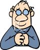 Old Man With Glasses clipart