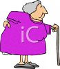 Old Woman With a Bad Back clipart