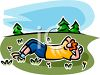 Man Sleeping in a Field clipart
