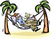 Man Reading in a Hammock clipart