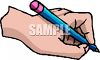 Hand Writing with a Pencil clipart