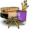 Lots of Pencils and an Electric Sharpener clipart