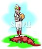 Stubborn Girl Baseball Pitcher clipart