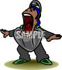 Umpire Yelling Safe clipart