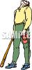 Baseball Batter Watching a High Ball clipart