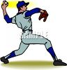 Teen Boy Pitching a Baseball clipart