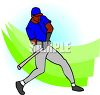 African American Baseball Player clipart
