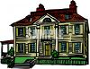 Big Colonial Style House clipart
