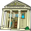 Sothern Style Colonial House with Columns clipart