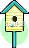Blue and Yellow Bird House clipart
