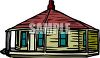 Round Yurt Style House clipart