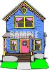 1800's Style Farmhouse with Two Storys clipart