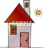 Little Peak Roofed House clipart