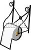 Wroght Iron Toilet Paper Holder clipart