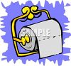 Toilet Tissue on a Brass Holder clipart