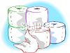 Rolls of Toilet Paper clipart