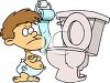 Baby Refusing to Potty Train clipart