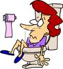 Woman Who Fell Into a Toilet clipart