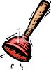 Plunger for a Toilet clipart