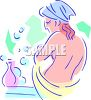 Nude Woman in the Bath clipart