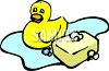 Bar of Soap and a Rubber Duck clipart