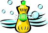 Dish Washing Liquid and Plates clipart