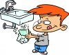 Boy Washing His Hands clipart