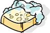 Bubble Covered Bar of Soap clipart