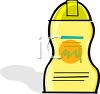 Bottle of Liquid Body Wash Soap clipart