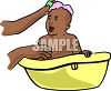 Baby in the Tub clipart