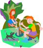 Friends on a Teeter Totter clipart