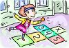 Child Playing Hopscotch clipart
