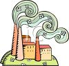 Smoke Pouring Out of a Factory clipart