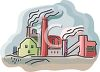Industrial Factory Polluting the Air clipart