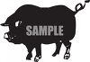 Silhouette of a Boar clipart