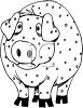 Pig with Chicken Pox clipart