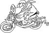 Hog on a Motorcycle clipart