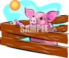 Pig in a Pen clipart