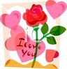I Love You Valentine Watercolor clipart