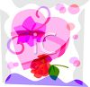 Valentine Candy and Rose Watercolor clipart