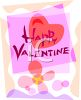 Watercolor Valentine Card with Hearts clipart