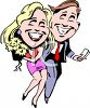 Realistic Clip Art of a Couple on a Date clipart