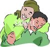 Gay Asian Couple clipart