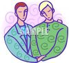 Homosexual Couple clipart